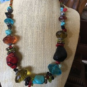 Jewelry - Plastic beaded necklace in great colors